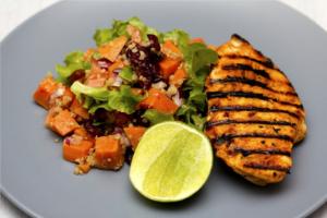 In welk voedsel zit collageen, gegrilde kip met quinoa