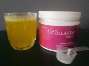 In welk voedsel zit collageen, Collagen Select in een glas