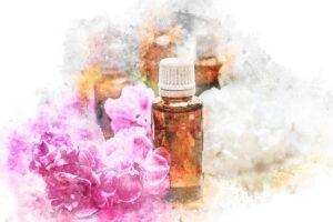 ssentiële olie gestileerd flesje
