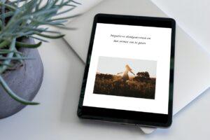Hoe je omgaat met negatieve gedachtenpatronen, rapport is leesbaar op tablet